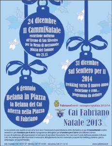 Locandina natale fabrianese 2013