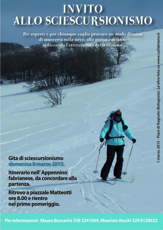 sciescursionismo Domenica 8 Marzo 2015